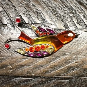 Swarovski Bird Brooch, Rare